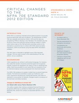 Standards & Codes Note 4: Significant Changes to the NFPA