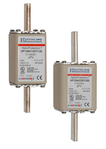 FERRAZ SHAWMUT MERSEN HP1025 25A 1000VDC Helio gPV Fuse JPSF669 Pack of 1//5//10